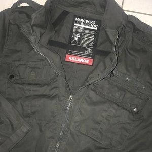 Mark ecko cut and sew military grey cotton jacket